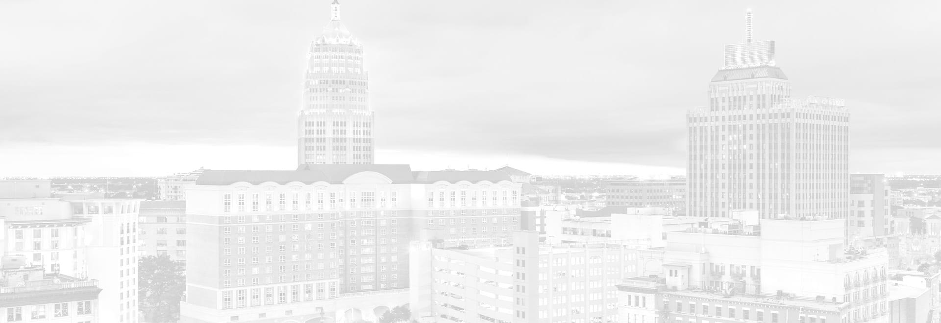City Skyline with white overlay